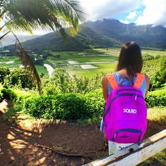 Squid pack goes to Hawaii #backpack #kids #fashion #Hawaii #backpacking #customizable