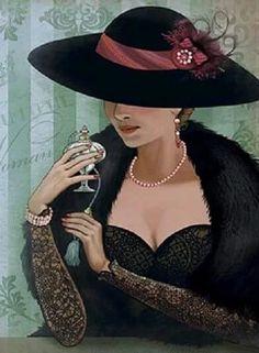 Art Deco Illustration, Fashion Illustration Vintage, Portrait Illustration, Vintage Pictures, Vintage Images, Vintage Art, Vintage Ladies, Art Deco Fashion, Vintage Fashion