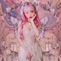 Cult Party Kei is named after the Harajuku shop Cult Party (now known as the Virgin Mary). It is based on Western religious artifacts like crosses or bibles. It is also regonized by its soft colors and sweet clothing , it is sometimes confused for being Dolly Kei .