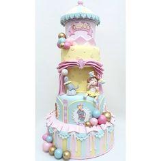 """Rodrigo Júnio Bolo Cenográfico on Instagram: """"Aquele Circo Rosa cheio de encanto para as meninas? Temos também!!! Bolo Circo Rosa - Disponível para locação! #festamenina #festacircorosa…"""" Bolo Fake, Carnival Themes, Circus Party, Princess Peach, Baby Shower, Cakes, Color, Birthday Cakes, One Year Anniversary"""