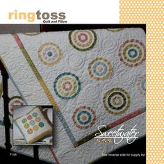 Ringtoss quilt and pillow pattern by Sweetwater P104 by QuiltiliciousFabric on…