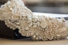 Bridal belts and sashes - Style R02 (1 qty ready to ship)