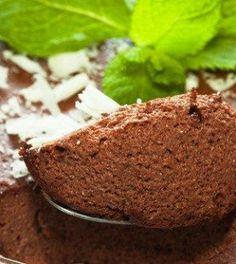 Mousse de Chocolate Light com apenas 50 calorias