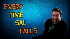 Sal falls down!!! I love him!!!