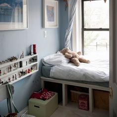 I always wanted a bed in a window when I was a kid