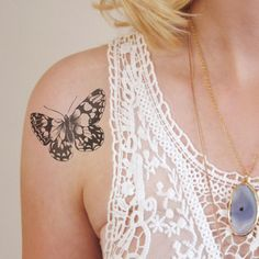 Butterfly temporary tattoo