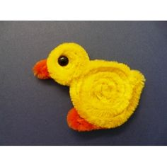 Basteln mit Pfeifenputzer | Schöne Ente basteln