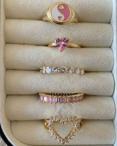 Trendy Jewelry, Cute Jewelry, Hair Jewelry, Jewellery, Pink Rings, Jewels, Toe Rings, Nail Inspo, Cute Pink
