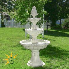 Outside Fountains, Fountains For Sale, Garden Water Fountains, Water Garden, Outdoor Fountains, Fountain Garden, Fountain Ideas, Stone Fountains, Tiered Garden