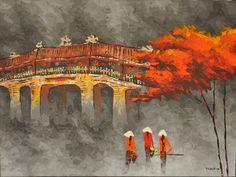 The Bridge in the Distance | Art from Vietnam | Art Sumo