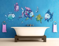 Beautiful Wandtattoo Kinderzimmer Der Regenbogenfisch Unterwasserparadies Sticker Set