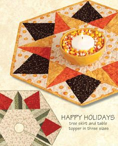 Happy Holidays Table Topper: this one would look great on a round table.