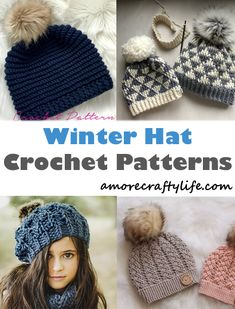 start making a cozy winter hat today! winter hat crochet patterns - crochet  pattern pdf 9557e1df2583