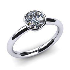 Diamantring 0.50 Karat Solitär in 585er Weißgold. Ein Solitär Diamant Ring von www.juwelierhausabt.de in Dortmund.
