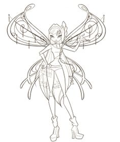 The Winx Club Photo Coloring Pages