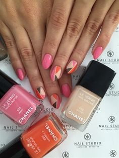 Pink Colourful Chanel! by Kostadina from Nail Art Gallery