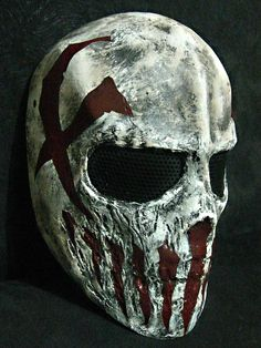 Brutal, love it. This mask is a custom mask for shooting. WANT IT.