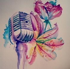 Watercolor ❤️ #music #tattoo #watercolor