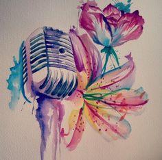 Watercolor ❤️ #music #tattoo #watercolor