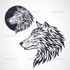 Wolf Head Emblem - Animals Characters