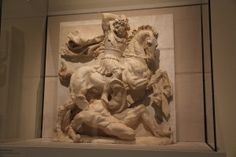 Metope with Pyrrhus in Battle (from Ancient History)