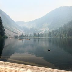 Talapus Lake WA on a smokey morning #hiking #camping #outdoors #nature #travel #backpacking #adventure #marmot #outdoor #mountains #photography