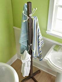 DIY bathroom towel rack ideas