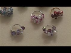 How To Create Beaded Rings - YouTube