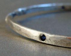 gitana de pulsera brazalete trenzado plata conjunto zafiro azul