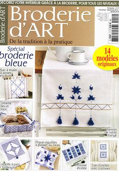 Broderie d Art Embroidery Hearts, Embroidery Monogram, Christmas Embroidery, Silk Ribbon Embroidery, Cross Stitch Embroidery, Hand Embroidery, Cross Stitch Patterns, Embroidery Designs, Cross Stitch Magazines