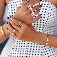 Layer your jewelry like a pro.
