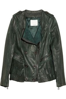 3.1 Phillip Lim Ruffled leather jacket (via http://www.chicityfashion.com/real-and-faux-leather-jackets/)