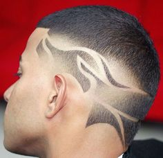 Pinterest @ashfricker Stylish Haircuts, Cool Mens Haircuts, Unique Hair Cuts, Boys Haircuts With Designs, Barber Tips, Hair Tattoo Designs, Barber Haircuts, Men's Haircuts, Sams Hair