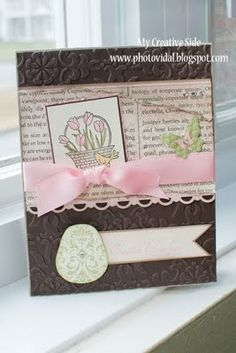 Easter card using a flower for all seasons