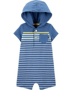Baby Boy Hooded Striped Coverall from OshKosh Bgosh. Shop clothing & accessories from a trusted name in kids, toddlers, and baby clothes.