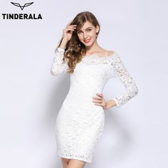 >> Click to Buy << TINDERALA Lace women dress 2017 sexy elegant full sleeve bodycon mini party black/white/red spring summer autumn bandage dresses #Affiliate