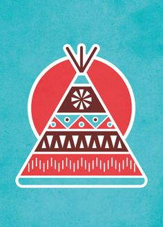 Indian Tepee Art Print by Ludivineem