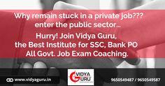 Get high salary Govt. Job!! Join #VidyaGuru, the #bestbankcoaching Institute  Call: 9650549487 or Visit: http://www.vidyaguru.in/