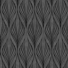 Optimum Black / Silver Wallpaper by Graham and Brown