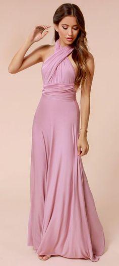 Tricks of the Trade Mauve Maxi Dress