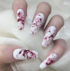 35 Creepy Halloween Nails For The Scary Holiday Related posts: Halloween Nail Art Ideas; Holloween Nails, Halloween Acrylic Nails, Cute Halloween Nails, Cute Acrylic Nails, Cute Nails, Pretty Nails, Gel Nails, Creepy Halloween, Manicure