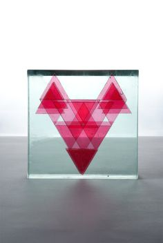 "BUDAI ZSOLT JÁNOS: Glass graphic animal ""Fox"""