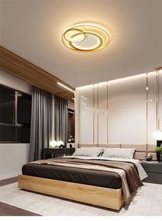 Cannex LED Ceiling Light offers a perfect lighting concept for rooms of different sizes. Cannex is equipped with energy-efficient LED technology. Due to its simple shape and elegant design, this light is ideal for lighting hallways, kitchens or l. Modern Luxury Bedroom, Luxury Bedroom Design, Bedroom Furniture Design, Home Room Design, Master Bedroom Design, Luxurious Bedrooms, Indian Bedroom Design, Bedroom Designs, Ceiling Design Living Room
