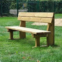 This Park Bench is not just for parks but also a great addition to outdoor playground equipment, as it provides a comfortable place for both adults and children to sit