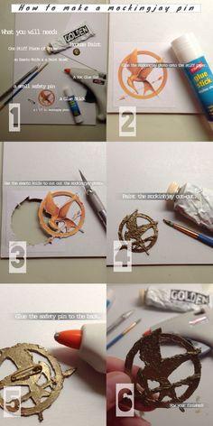 How to make a Mockingjay Pin Hunger Games Crafts, Hunger Games Costume, Hunger Games Humor, Cool Halloween Costumes, Diy Costumes, Halloween Crafts, Halloween 2020, Katniss Everdeen Costume Ideas, Katniss Everdeen Fancy Dress