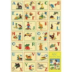 French ABC poster at Pierrot et Coco £4