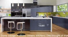 akurum kitchen with high-gloss grey abstrakt by ikea **** I really like the gray cabinets here    AGREE.  AN OPTION FOR US