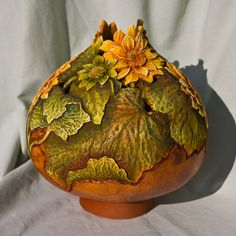 gourd art   CRW_2100 - Gourd Art Enthusiasts... from another pinner.. have to try to find artist to credit.  Beatiful work!