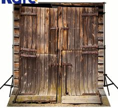 Children Portrait clothBackdrops for Photography Old Wooden Doors Backdrops for Photo Rust Handle Wall Fotogr for Kids Digital Print