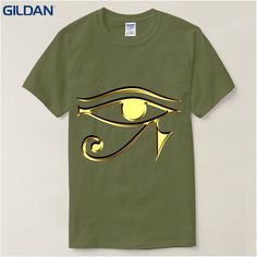 Tops Tees 100% Cotton Men's The Eye Of Horus